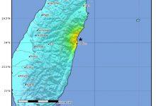 Taiwan, scossa di terremoto