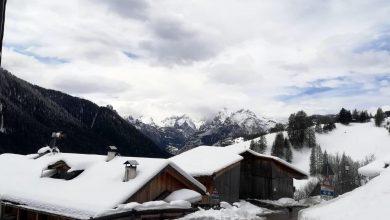 Maltempo, torna il freddo, neve a Cortina e su Dolomiti
