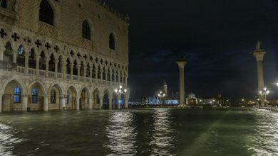 Venezia marea molto sostenuta