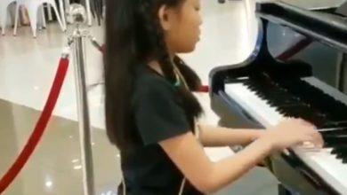bambina pianoforte terremoto Filippine