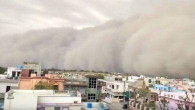 tempesta di sabbia india video