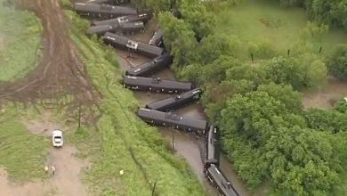 Treno deraglia texas