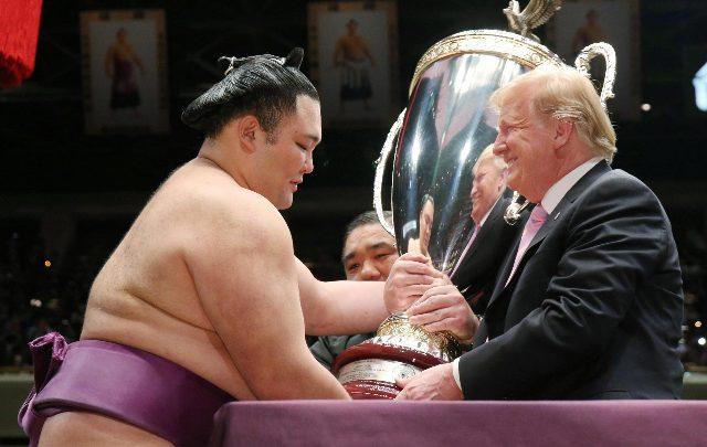 Trump sumo tokyo