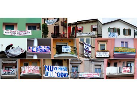 Salvini striscioni