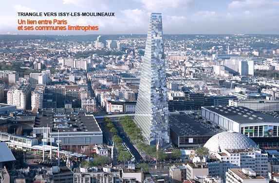 Parigi grattacielo tour triangle