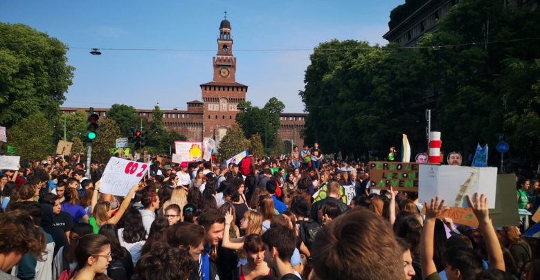 sciopero per il clima Fridays For Future Milano