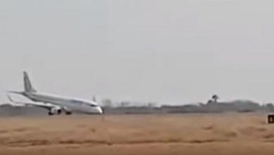 aereo atterra senza carrello myanmar