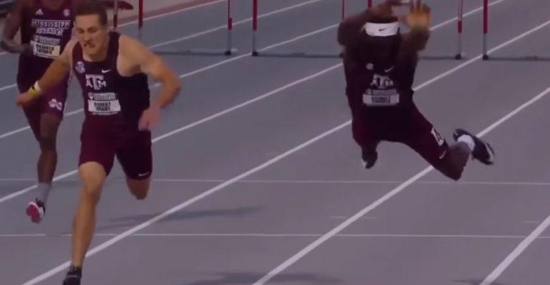 atleta ostacoli traguardo