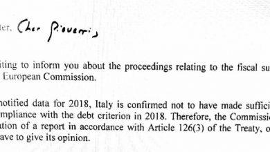 debito lettera Ue