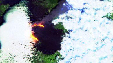 etna eruzione oggi spazio