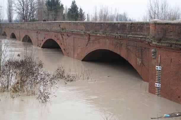 fiume secchia emilia romagna maltempo
