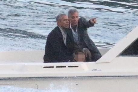 Obama e Clooney lago di Como