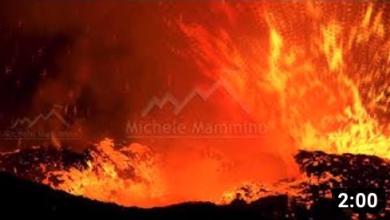 Etna, eruzione notturna