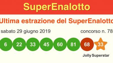 Superenalotto @estrazione_vincente
