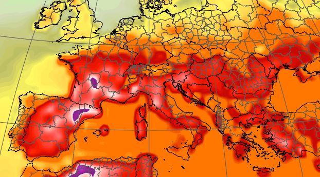 caldo città temperature bollino rosso