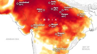 caldo estremo in India