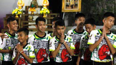 calciatori thailandesi grotta