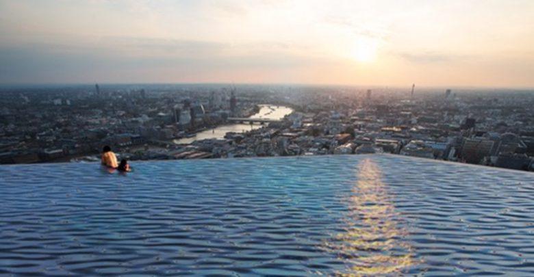Londra piscina infinity pool 360 gradi