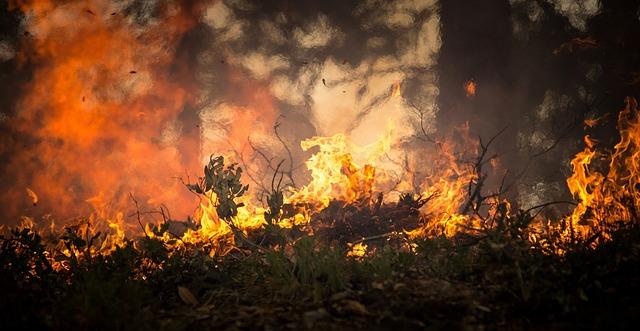 pericolo incendi caldo