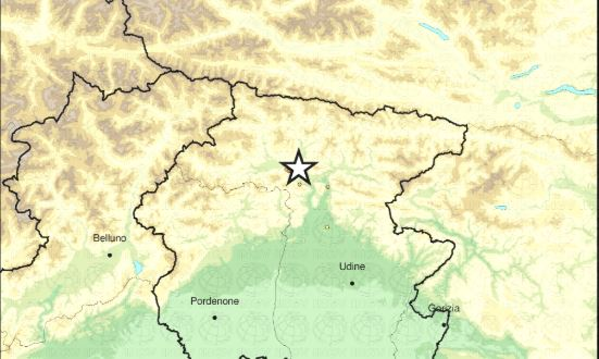 terremoto oggi friuli mappa