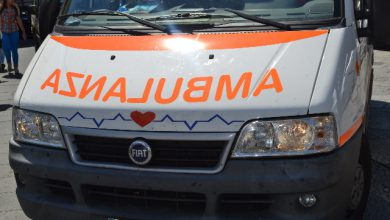 Modena ustionata ambulanza