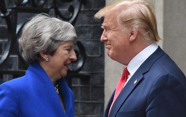 Trump Theresa May