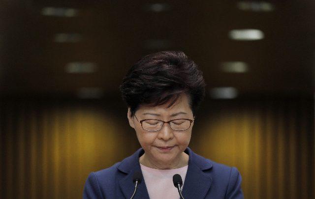 Carrie Lam Hong Kong proteste