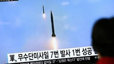 Corea del Nord, lancio missili - Foto ANSA