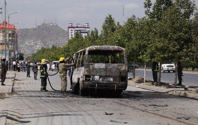 Afghanistan, bomba contro un bus - Foto ANSA