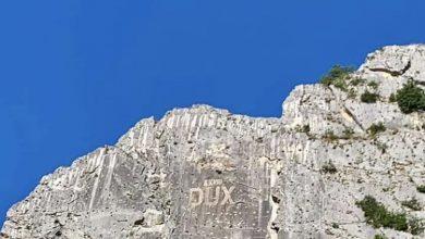 Scritta Dux in Abruzzo - Foto Instagram