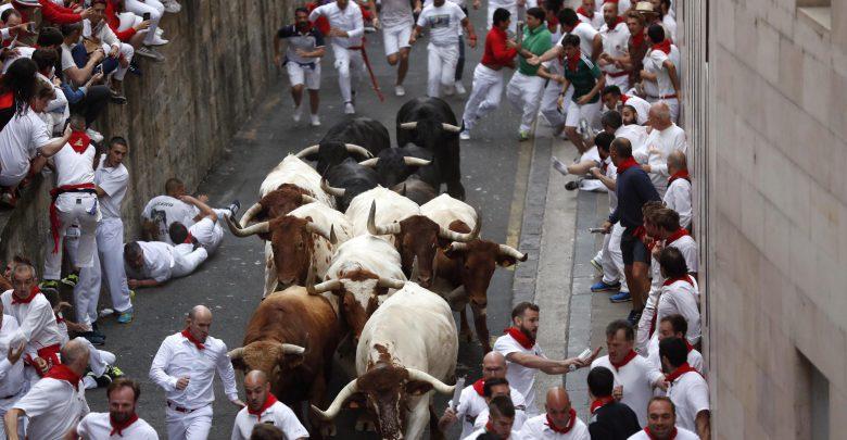 Corsa tori Pamplona Video