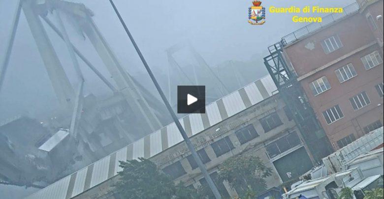 Ponte di Genova, video del crollo