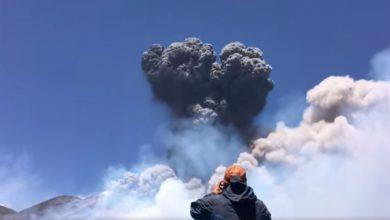 etna video esplosione