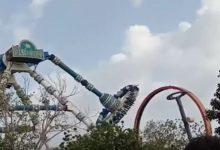 india giostra luna park si rompe video