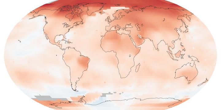 riscaldamento globale nasa