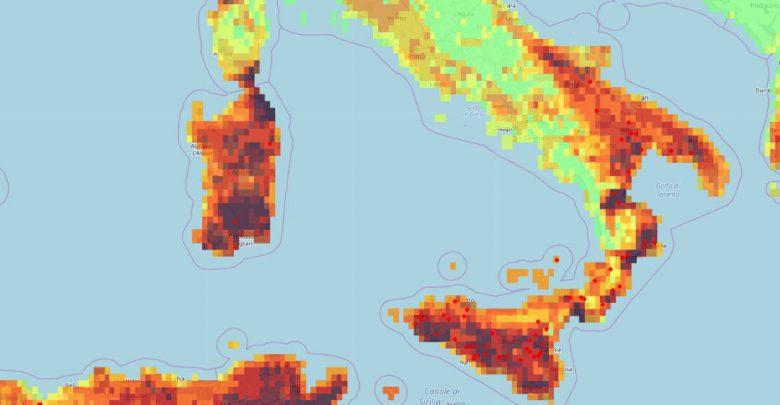 rischio incendi sardegna sicilia