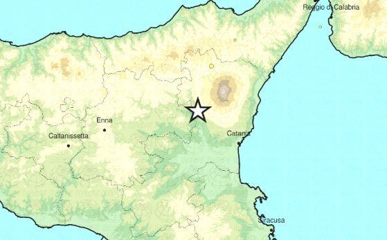 terremoto etna oggi
