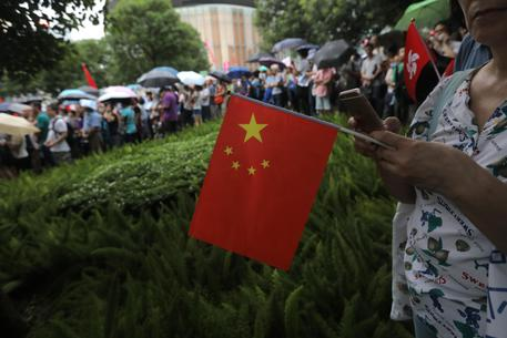 Hong Kong, manifestazione pro Cina
