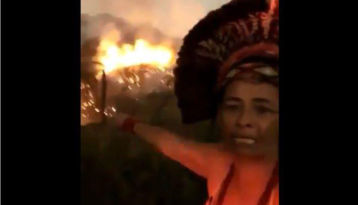Amazzonia in fiamme video indigena