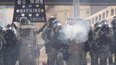 Hong Kong scontri polizia
