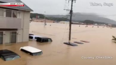 Giappone piogge