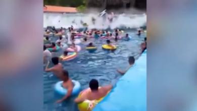 Cina tsunami piscina