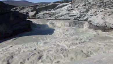 video fiume ghiaccio groenlandia
