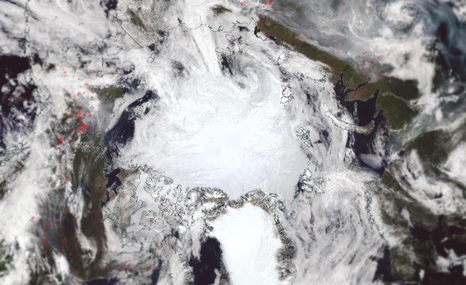 ghiacci artico nord italia