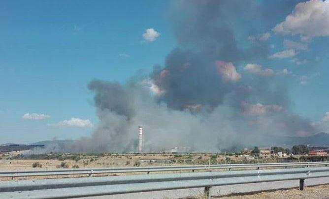 incendi in Sardegna Ottana