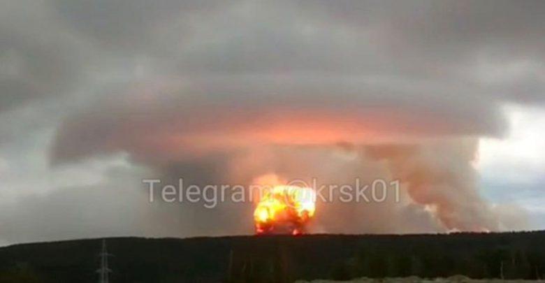 video esplosione russia deposito