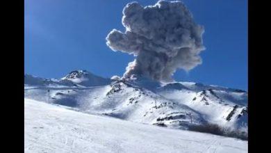 vulcano piste sci ande