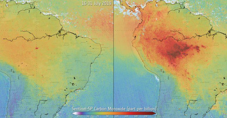 qualità aria incendi amazzonia