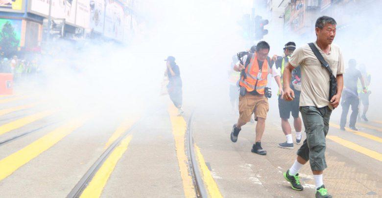 hong kong lacrimogeni
