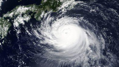 Giappone tifone Faxai